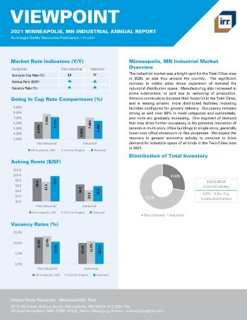 2021 Annual Viewpoint Minneapolis, MN Industrial Report