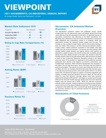 2021 Annual Viewpoint Sacramento, CA Industrial Report