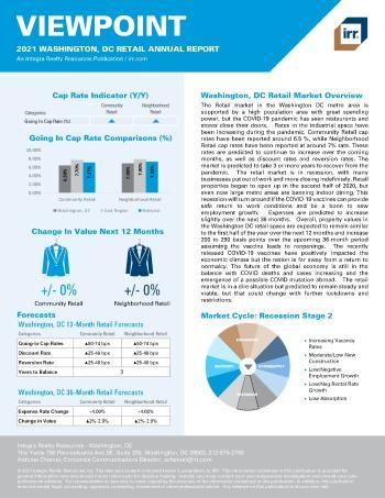 2021 Annual Viewpoint Washington, DC Retail Report