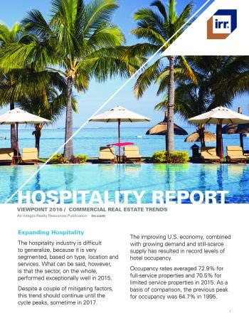 2016 Viewpoint National Hospitality Report